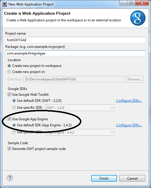 Eclipse Google App Engine Tutorial: [Tutorial] Create Your First GWT Project And Deploy It To